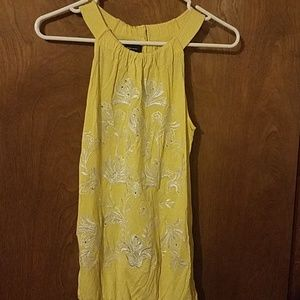INC International Concepts Silver Yellow Tank S